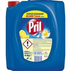 Pril Sıvı Bulaşık Deterjanı Limon 4000 ml