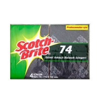 Scotch Brite 74 Genel Amaçlıl Bulaşık Süngeri 4 adet  (112x158 mm)