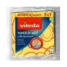 Vileda Sarı Temizlik Bezi 6 lı Paket