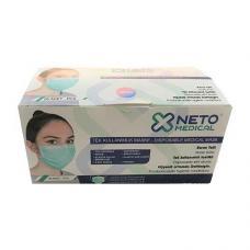 Neto Telli Lastikli 3 Katlı Cerrahi Maske 50 Adet
