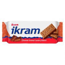 Ülker İkram Çikolata Kremalı Sandviç Bisküvi 84 Gr 24 Adet