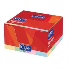 Kraf 117G Küp Bloknot Renkli  8 x 8 cm