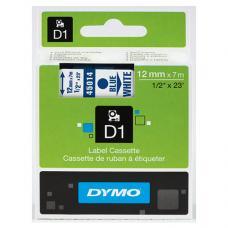 Dymo D1 Yedek Şerit 12 mm x 7 mt Beyaz / Mavi (45014)