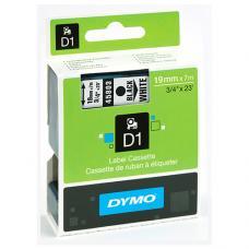 Dymo D1 Yedek Şerit 19 mm x 7 mt Beyaz / Siyah (45803)