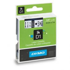Dymo D1 Yedek Şerit  9 mm x 7 mt Beyaz  / Siyah  (40913)