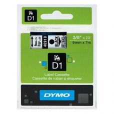 Dymo D1 Yedek Şerit  9 mm x 7 mt Şeffaf  / Siyah (40910)