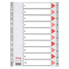 Esselte Seperatör A4 1-10 Rakam 100105