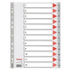 Esselte Seperatör A4 1-12 Rakam 100106