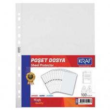 Kraf 1002 XL Poşet Dosya A4 100 lü