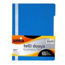 Umix Telli Dosya U1180P Mavi 50 li