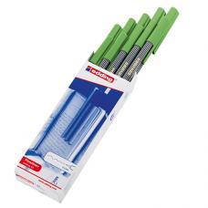 Edding 55 Fine Pen Keçeli Kalem Açık Yeşil 10 lu