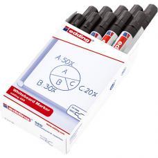 Edding 260 Beyaz Tahta Kalemi Siyah 10 lu