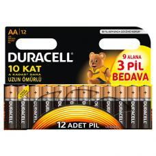 Duracell AA Kalem Pil Paket 12 Adet