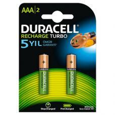 Duracell AAA Şarjlı İnce Kalem Pil  2 Adet  ( 900 MAH )