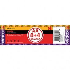 Kodak AA Çinko Karbon Kalem Pil 12 Adet
